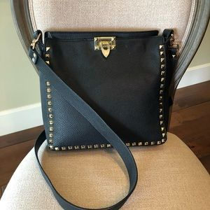 Valentino style marmi  leather crossbody handbag